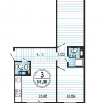 Трехкомнатные квартиры